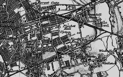 Old map of Plashet in 1896