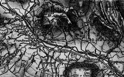 Old map of Wgi-fawr in 1899