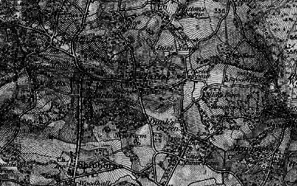 Old map of Plaxtol in 1895