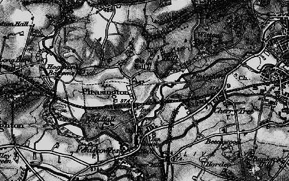 Old map of Pleasington in 1896