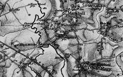 Old map of Bagber Br in 1898