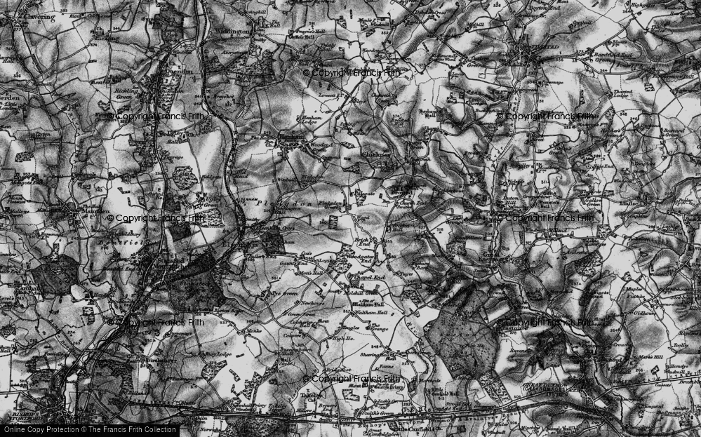 Old Map of Historic Map covering Wood Farmhouse in 1895