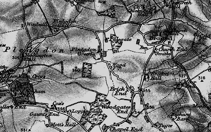 Old map of Wood Farmhouse in 1895
