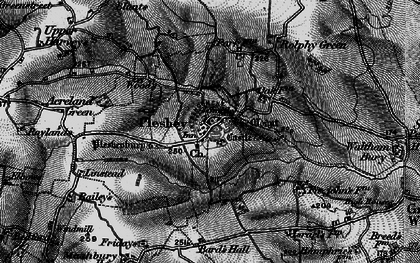 Old map of Pleshey in 1896