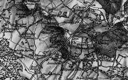 Old map of Pluckley in 1895