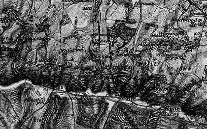 Old map of Plumpton in 1895