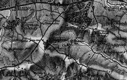 Old map of Badbury Lane in 1896