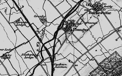 Old map of Langar Airfield in 1899