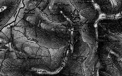 Old map of Plynlimon in 1899