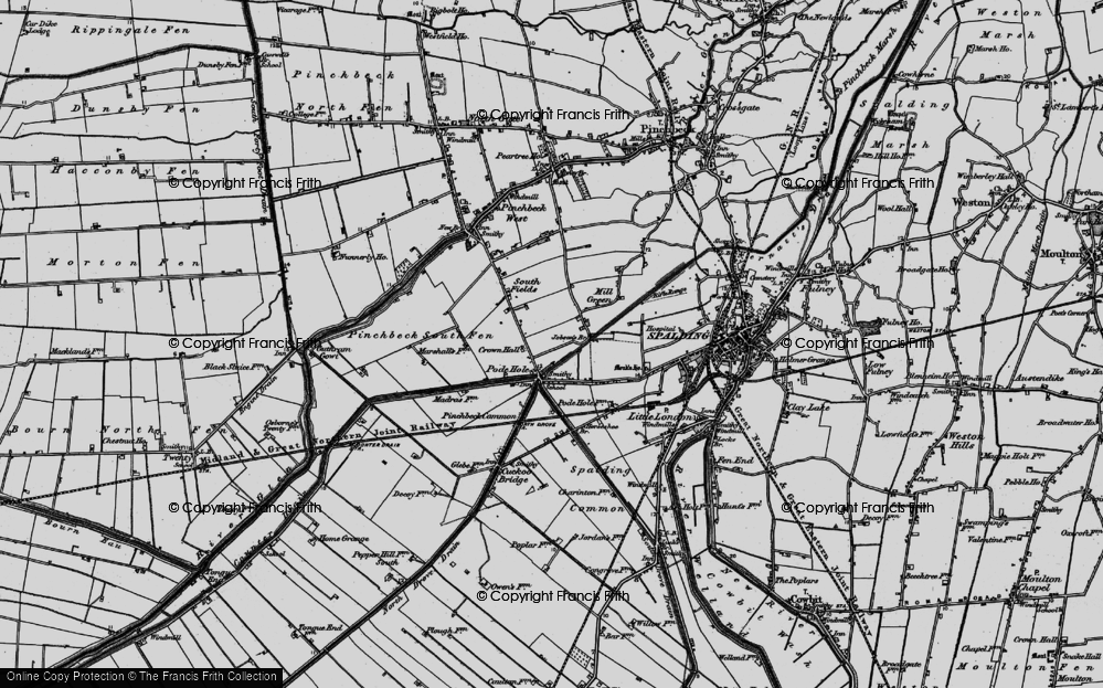 Old Map of Historic Map covering Lindum Ho in 1898