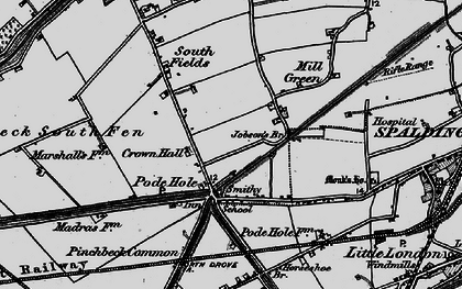 Old map of Lindum Ho in 1898