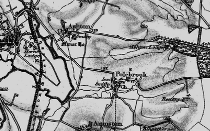 Old map of Ashton Wold Ho in 1898