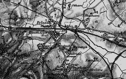 Old map of Polegate in 1895