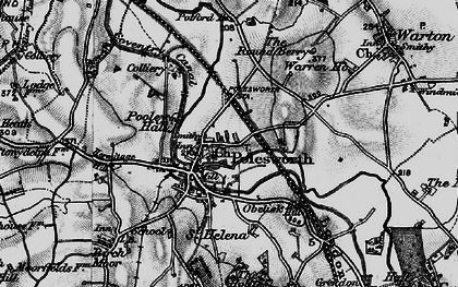 Old map of Polesworth in 1899
