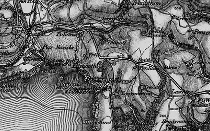 Old map of Polkerris in 1895