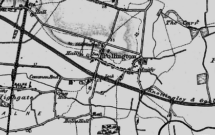 Old map of Balne Hall in 1895