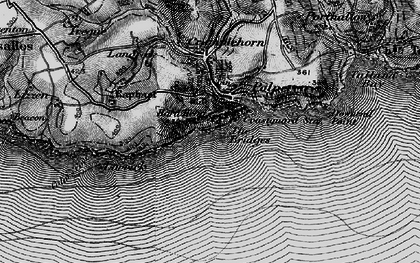 Old map of Polperro in 1896