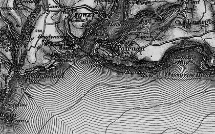 Old map of Polruan in 1896