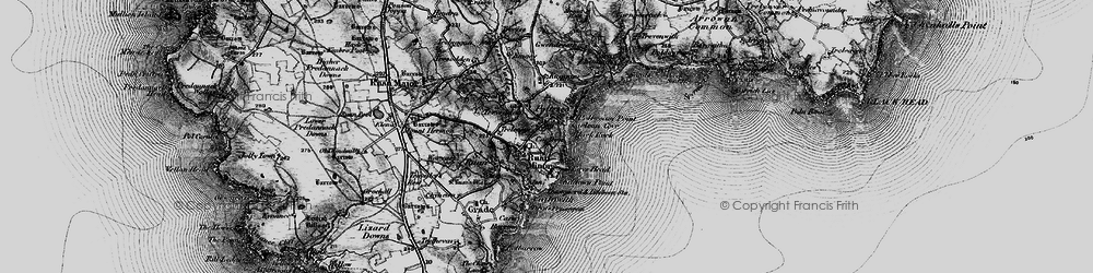 Old map of Poltesco in 1895
