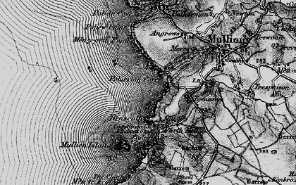 Old map of Polurrian Cove in 1895