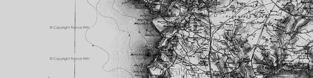 Old map of Poldhu Point in 1895