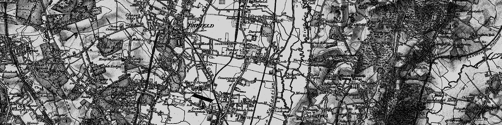 Old map of William Girling Reservoir in 1896