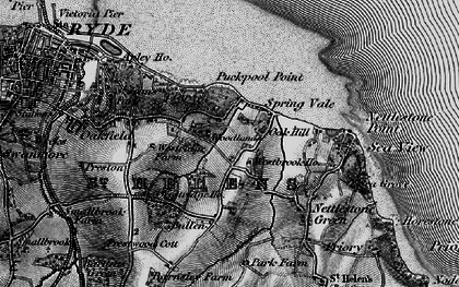 Old map of Woodlands Vale in 1895