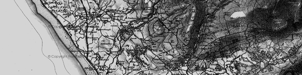 Old map of Wheel Fell in 1897