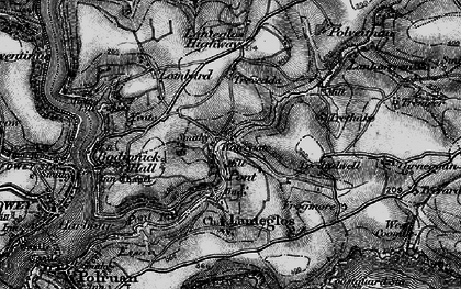Old map of Pont in 1896