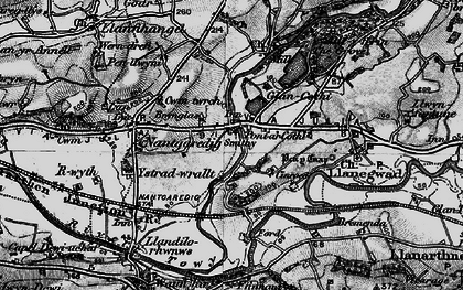 Old map of Abercothi Ho in 1898