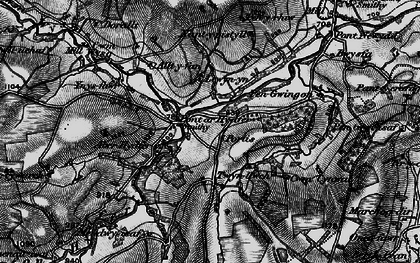 Old map of Tircapel in 1898