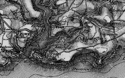 Old map of Pont Pill in 1896