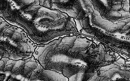 Old map of Afon Tarennig in 1899