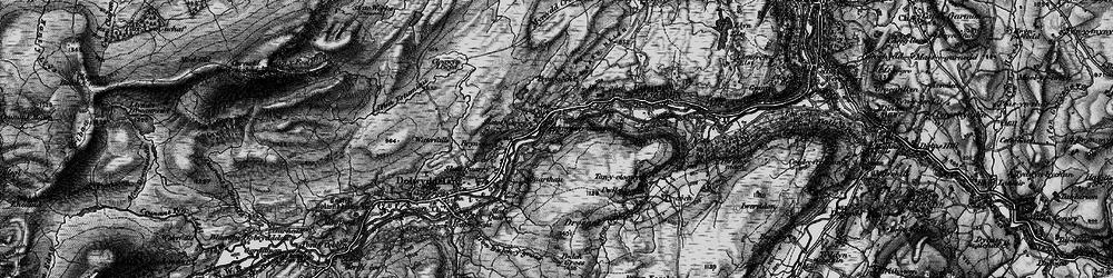 Old map of Afon Wybrnant in 1899