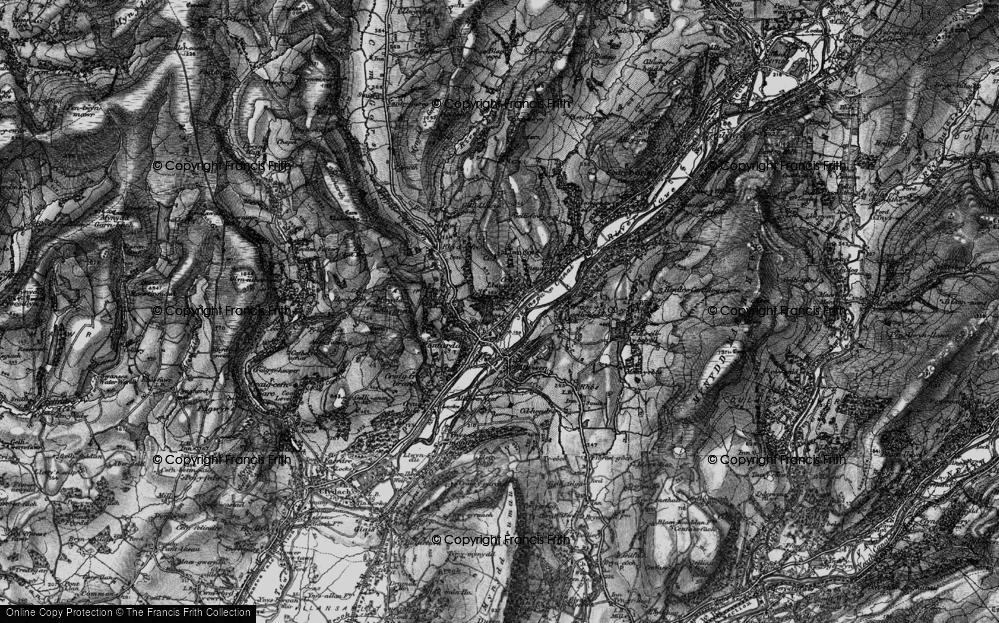 Old Map of Pontardawe, 1898 in 1898