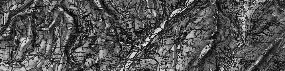Old map of Pontardawe in 1898