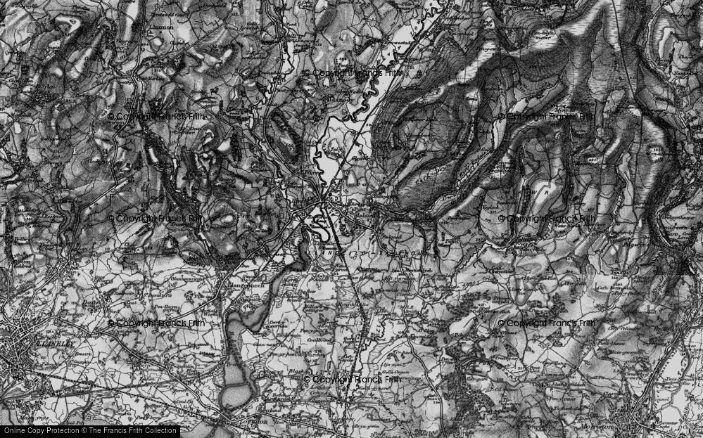 Old Map of Pontarddulais, 1897 in 1897