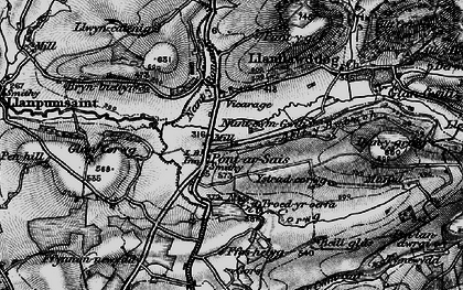 Old map of Allt y Bwbach in 1898