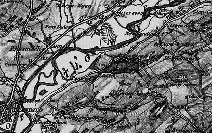Old map of Tir-y-lan in 1898