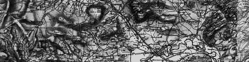 Old map of Alltwnnog in 1899