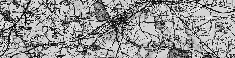 Old map of Pontefract in 1896