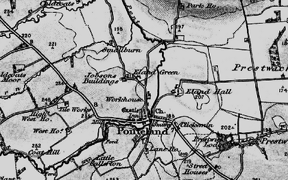 Old map of Ponteland in 1897