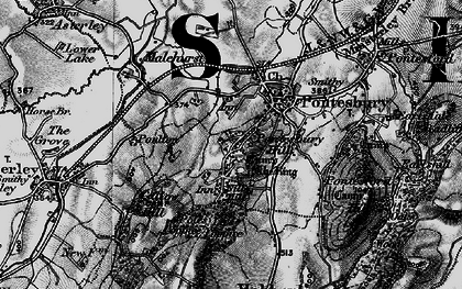 Old map of Lees Coppice in 1899