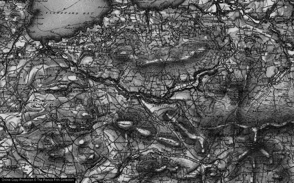Old Map of Historic Map covering Afon Gwaum in 1898