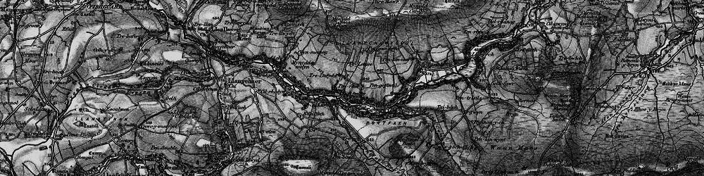 Old map of Afon Gwaum in 1898
