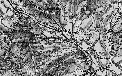 Old map of Ponthir in 1897