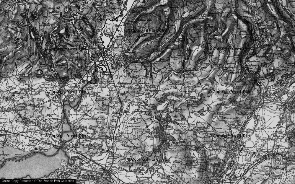 Old Map of Pontlliw, 1897 in 1897