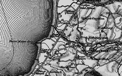 Old map of Pontllyfni in 1899
