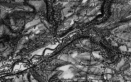 Old map of Pontneddfechan in 1898