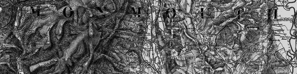 Old map of Pontnewydd in 1897